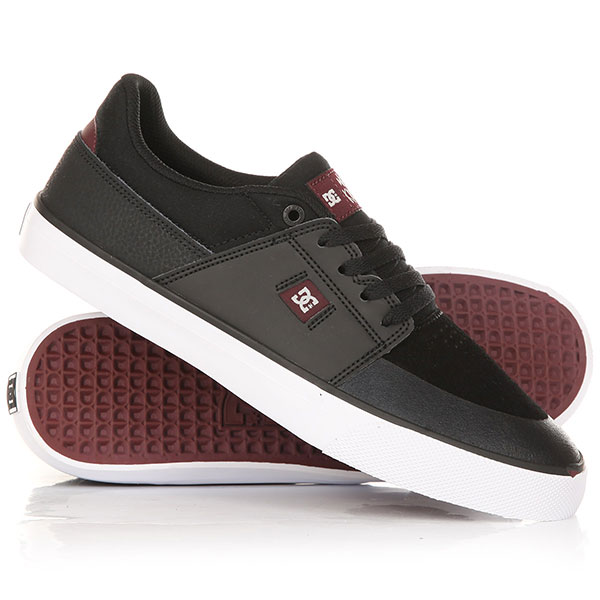 Кеды кроссовки низкие DC Wes Kremer Black/Oxblood dc shoes кеды dc heathrow se 11