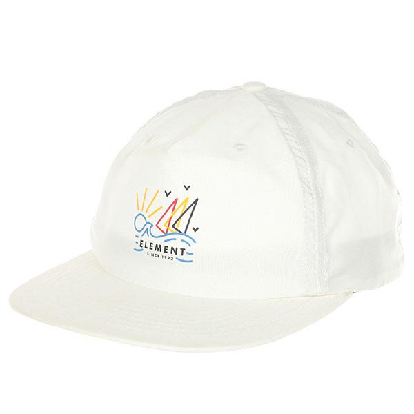 Бейсболка с прямым козырьком Element Frame Cap Off White бейсболка с прямым козырьком etnies tilney ball cap black