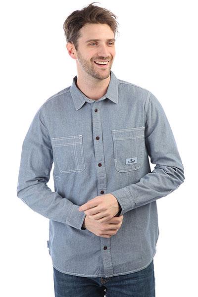 Рубашка Element Collage Chambray Light Blue<br><br>Цвет: синий<br>Тип: Рубашка<br>Возраст: Взрослый<br>Пол: Мужской