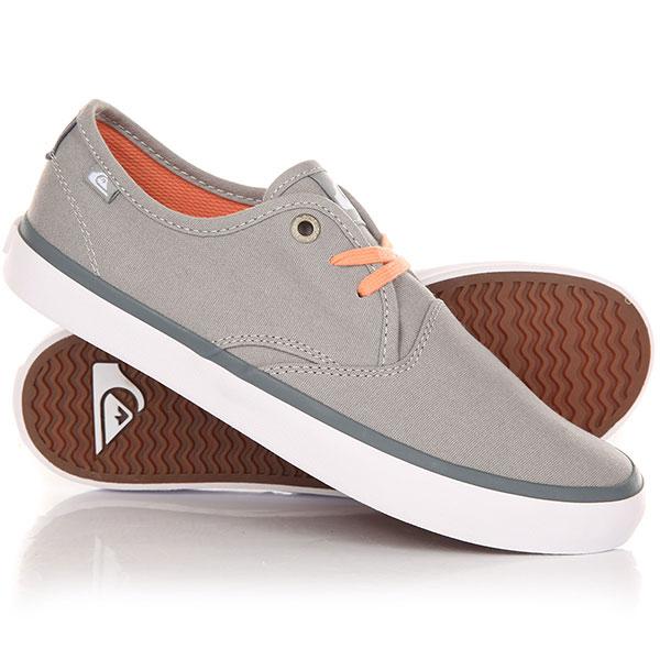 Кеды кроссовки низкие детские Quiksilver Shorebreak Youth Grey/Grey/White кеды кроссовки низкие детские quiksilver beacon black grey white