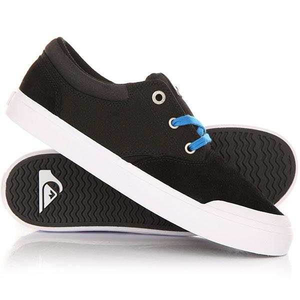Кеды кроссовки низкие детские Quiksilver Verant Youth Black/Blue/White кеды кроссовки низкие детские quiksilver beacon blue white