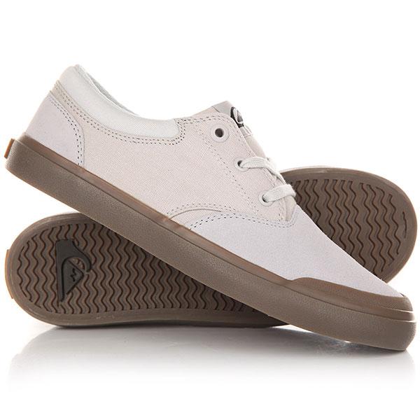 Кеды кроссовки низкие детские Quiksilver Verant Youth White/White/Brown кеды кроссовки низкие детские quiksilver beacon blue white