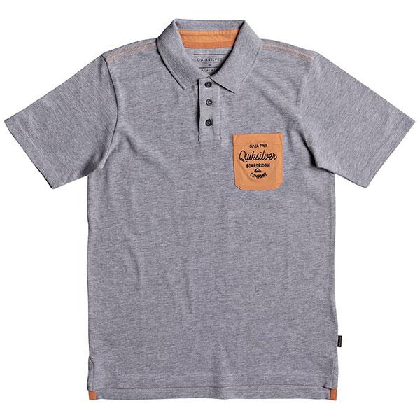 Поло детское Quiksilver Puakuyth Light Grey Heather футболка quiksilver baysicpocket light grey heather