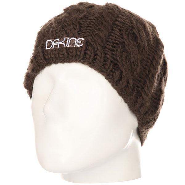 Шапка женская Dakine Vine Coffee<br><br>Цвет: коричневый<br>Тип: Шапка<br>Возраст: Взрослый<br>Пол: Женский