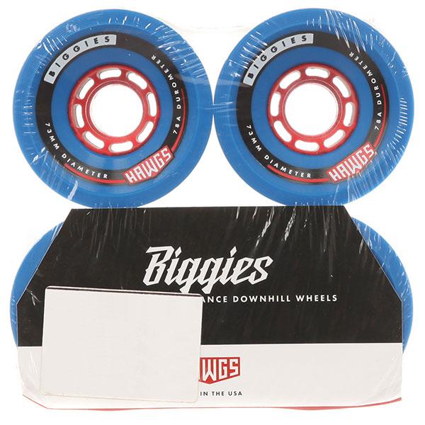 Колеса для скейтборда Landyachtz Hawgs Bigger Biggie Blue 78A 73 mm колеса для скейтборда для лонгборда eastcoast shelby white 78a 65 mm