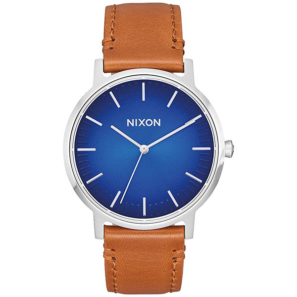 Кварцевые часы Nixon Porter Leather Blue Ombre/Saddle часы nixon re run leather all black