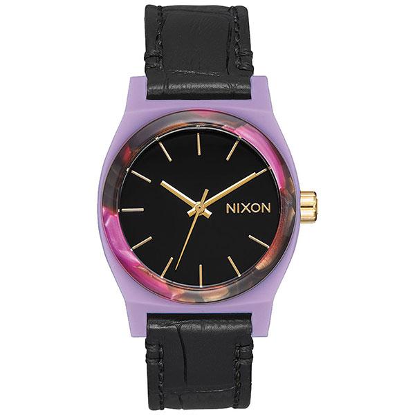 Кварцевые часы женские Nixon Medium Time Teller Leather часы nixon corporal ss all black