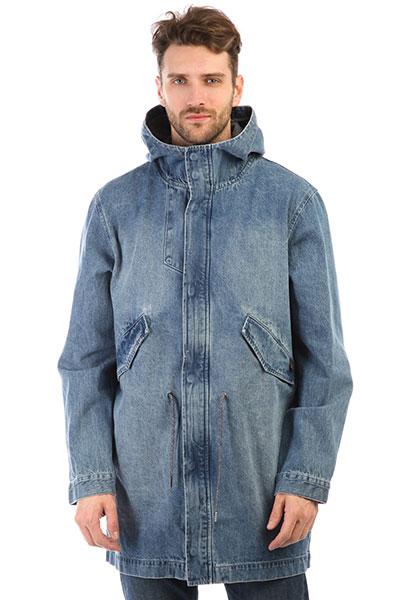 Куртка джинсовая Quiksilver Brickdrenimjkt Blue Used levi s синяя джинсовая рубашка