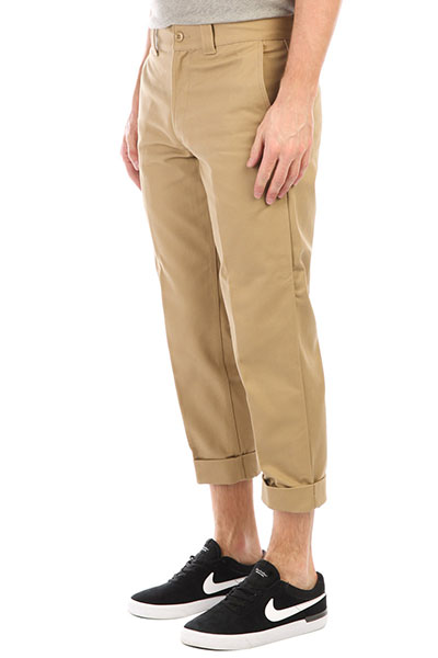 Штаны прямые DC Rolled On Chino Khaki штаны прямые anteater chino khaki