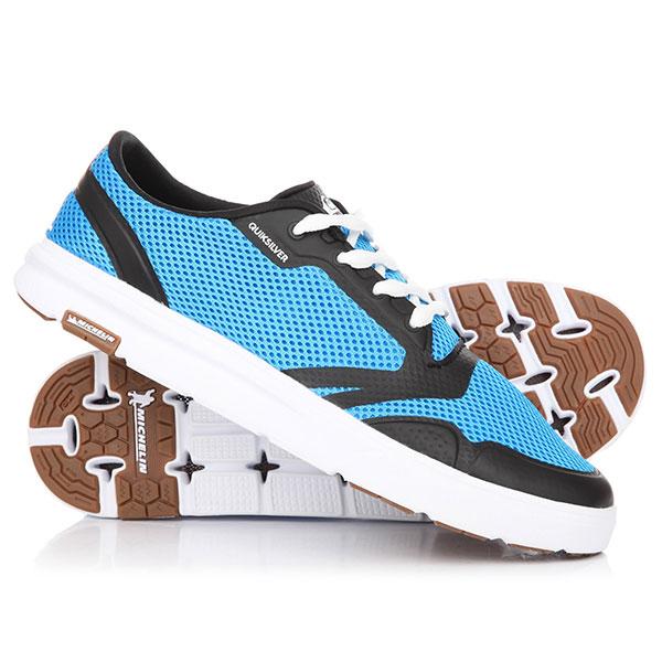 Кеды кроссовки низкие Quiksilver Amphibian Plus Blue/Black/White кроссовки adidas performance adidas performance ad094amuou39