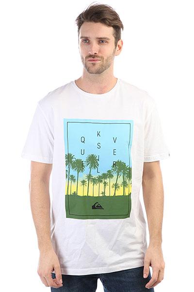 Футболка Quiksilver Classalinastars White футболка pepe jeans london футболка