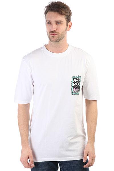 Футболка Quiksilver Ghettosession White<br><br>Цвет: белый<br>Тип: Футболка<br>Возраст: Взрослый<br>Пол: Мужской