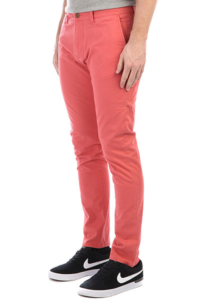 Штаны узкие Quiksilver Krandy Mineral Red штаны прямые penfield howland twill pants black