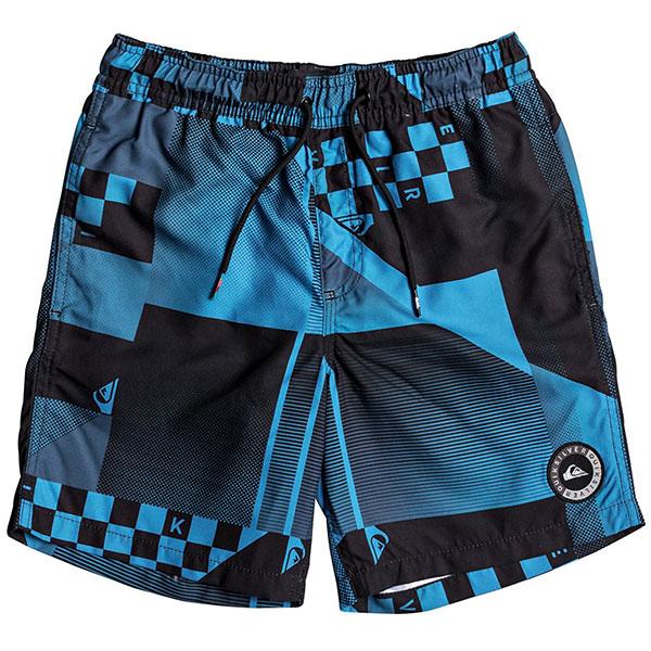 Шорты пляжные детские Quiksilver Checkremixyth15 Atomic Blue шорты пляжные детские quiksilver hightechyth16 real teal