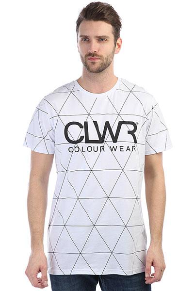 цена Футболка Colour Wear Clwr Tee White Polygon онлайн в 2017 году