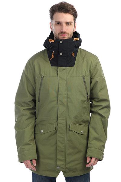Куртка Colour Wear Diverse Jacket LodenУличная куртка с чистым шведским взглядом. Нагрудные карманы и два просторных кармана внизу помогут вам взять с собой необходимые вещи. Куртка имеет органическую водоотталкивающую пропитку и натуральный утеплитель.Характеристики:Внутренняя подкладка из тафты.Водоотталкивающая пропитка DWR. Фиксированный капюшон с регулировкой. Застежка-молния+кнопки. Мягкая вставка для защиты подбородка.Утепленные карманы на молнии. Прорезные карманы для рук.Регулировка ширины подола.<br><br>Цвет: зеленый<br>Тип: Куртка<br>Возраст: Взрослый<br>Пол: Мужской