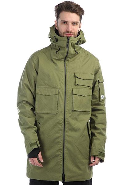 Куртка утепленная Colour Wear Cargo Parka Loden OliveКуртка Colour Wear Cargo parka – имеет удлиненный крой, практичные карманы на молнии, кулисы для утяжки на капюшоне и внизу, вентиляцию подмышек, съемную юбку, снегозащитные манжеты на рукавах, может использоваться как для катания на сноуборде, так и для носки в городе. Эта оригинальная молодежная куртка удлиненного кроя, выполнена из превосходного качественного материала. В ней вы будете чувствовать себя комфортно и стильно, как при занятиях спортом, так и во время прогулки.Характеристики:Внутренняя подкладка из тафты.Водоотталкивающая пропитка DWR. Фиксированный капюшон с регулировкой. Застежка-молния. Мягкая вставка для защиты подбородка.Утепленные карманы на молнии. Швы проклеены влагонепроницаемой лентой.Внутренний карман для защитной маски. Эластичные манжеты на рукавах с прорезями для больших пальцев. Вентиляционные отверстия подмышками на молнии. Фиксированная снегозащитная «юбка». Удлиненная спинка.Утепленные накладные карманы для рук.<br><br>Цвет: зеленый<br>Тип: Куртка утепленная<br>Возраст: Взрослый<br>Пол: Мужской