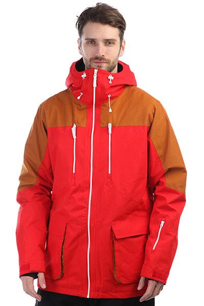 Куртка утепленная Colour Wear Thrust Jacket Red поло quiksilver cruzl mineral red