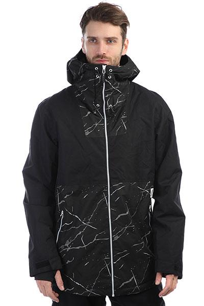 Куртка утепленная Colour Wear Block Jacket Black MarbleСтильная утепленная куртка в расцветке color block станет любимой и незаменимой вещью в вашем гардеробе. Характеристики:Мембрана: водонепроницаемость/испарение – 10,000 мм/10,000 гр. Внутренняя подкладка. Фиксированный капюшон. Утеплитель – 40 гр High Loft.Застежка-молния + кнопки. Швы проклеены влагонепроницаемой лентой.Внутренний карман для защитной маски. Эластичные манжеты на рукавах с прорезями для больших пальцев. Вентиляционные отверстия подмышками на молнии. Съемная снегозащитная «юбка». Утепленные накладные карманы для рук.<br><br>Цвет: черный<br>Тип: Куртка утепленная<br>Возраст: Взрослый<br>Пол: Мужской