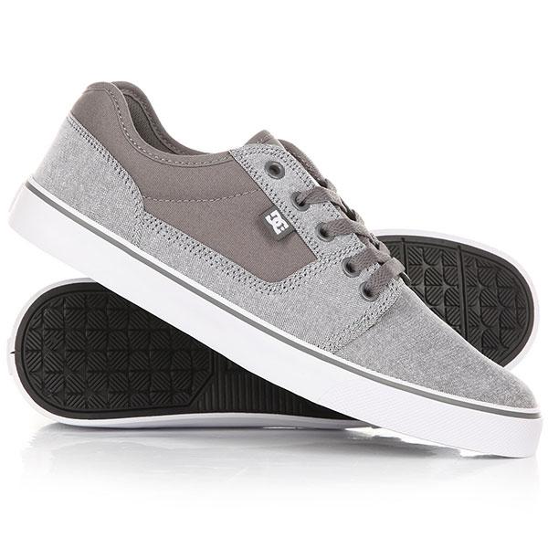 Кеды кроссовки низкие DC Tonik Tx Grey/White кеды кроссовки низкие dc tonik tx navy white