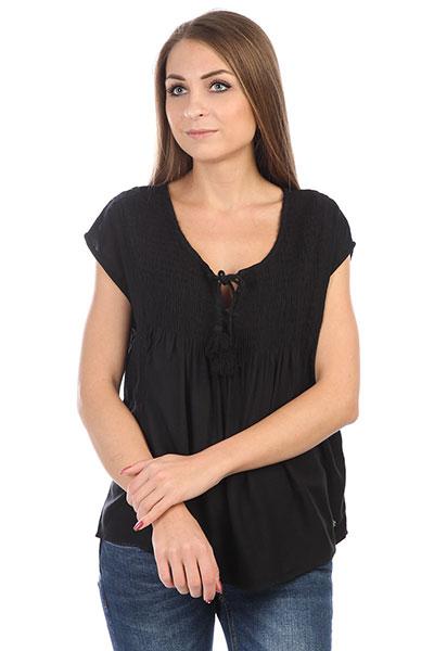 Блузка женская Roxy Electricfling Anthracite<br><br>Цвет: черный<br>Тип: Блузка<br>Возраст: Взрослый<br>Пол: Женский