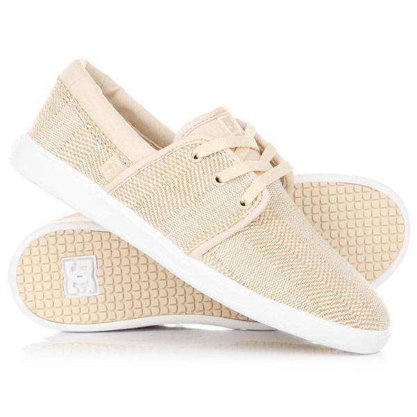 Кеды кроссовки низкие женские DC Shoes Haven Tx Se Taupe dc shoes кеды dc shoes rebound high tx se chambray fw17 5