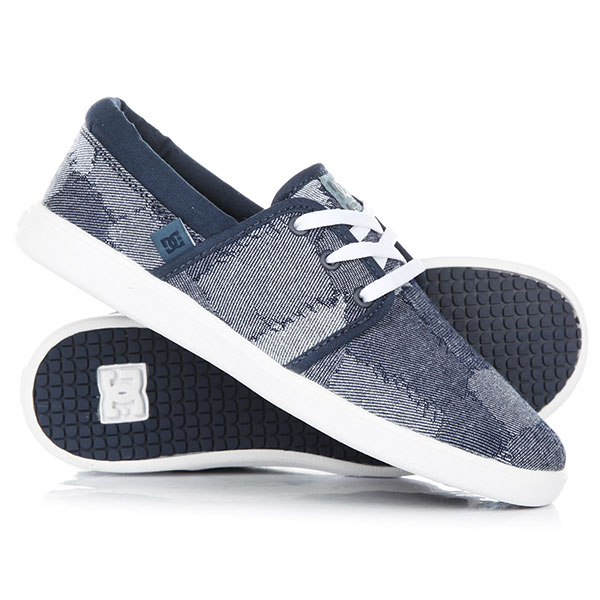 Кеды кроссовки низкие женские DC Shoes Haven Tx Le Blue/Blue/White кеды council tx le