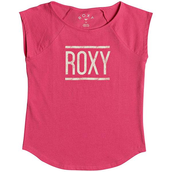 Футболка детская Roxy Heavensaheartb Rouge Red<br><br>Цвет: розовый<br>Тип: Футболка<br>Возраст: Детский