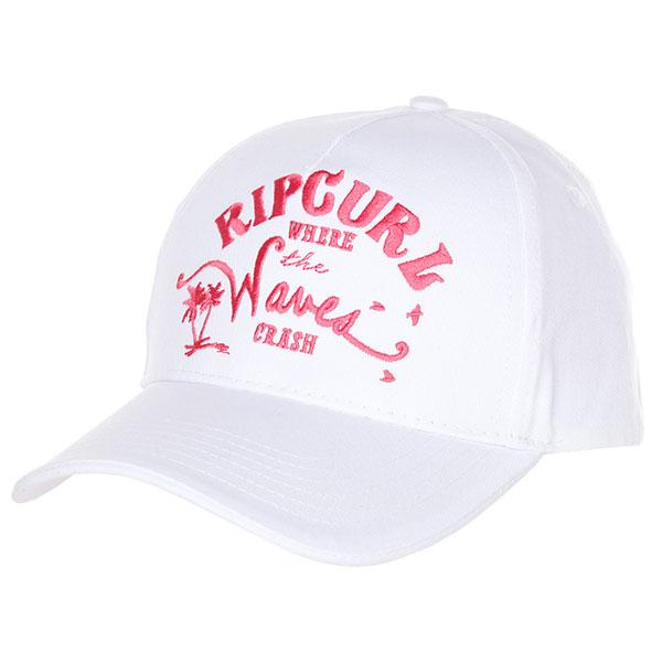 Бейсболка классическая женская Rip Curl Waves Snap Tab Cap Egret толстовка свитшот rip curl beat fleece night sky