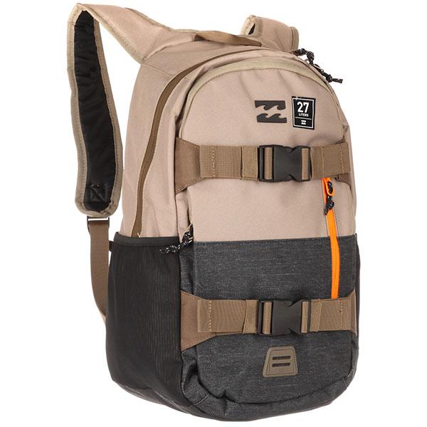 Рюкзак спортивный Billabong Command Skate Pack KhakiОчень удобный и универсальный рюкзак от Billabong, который обладает достаточным объем для хранения Вашего ноутбука и всех необходимых вещей. В добавок у него есть внешние крепления для скейтборда. На прогулку, в небольшое путешествие или просто поездка на любимый спот, Billabong Command станет Вашим верным спутником в любом из случаев. Характеристики:Просторное основное отделение. Мягкое отделение для ноутбука.Крепления для скейтборда. Карман органайзер. Боковые карманы.Регулируемые плечевые лямки.Плотная спинка.Удобная петля для переноски.<br><br>Цвет: бежевый<br>Тип: Рюкзак спортивный<br>Возраст: Взрослый<br>Пол: Мужской