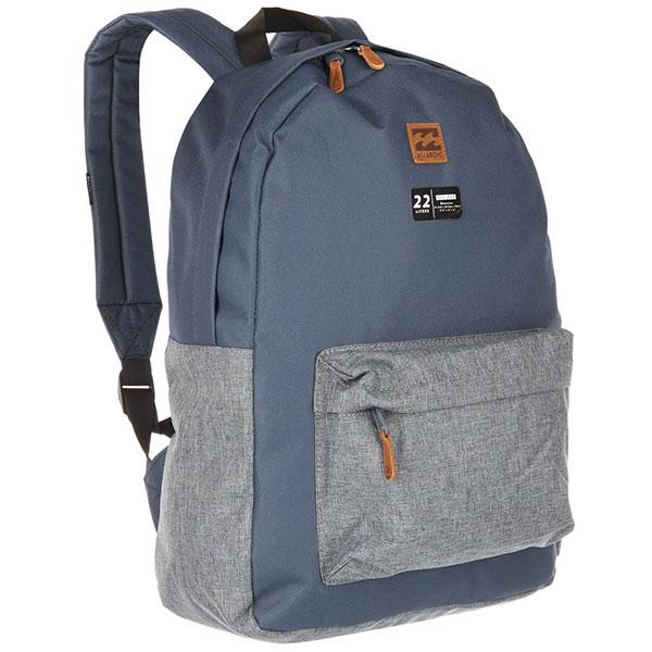 Рюкзак городской Billabong All Day Pack Dark Slate HeatherПрактичный рюкзак, который станет Вашим верным спутником в городских прогулках. Его объем позволит вместить множество вещей, необходимых в течение дня, а внешний карман поможет держать самые нужные мелочи в быстром доступе. Высококачественный материал гарантирует долговечность и сохранение свежего внешнего вида, а оригинальные цветовые решения делают этот рюкзак ещё и прекрасным дополнением Вашего образа.Характеристики:Вместительное основное отделение.Внешний карман на молнии. Регулируемые эргономичные лямки. Мягкая спинка. Удобная петля для переноски.Нашивка с фирменным логотипом Billabong.<br><br>Цвет: синий<br>Тип: Рюкзак городской<br>Возраст: Взрослый<br>Пол: Мужской