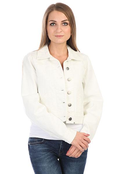 Куртка джинсовая женская Billabong Beaming Dream Sea BleachКороткая женская куртка из прочного хлопка с крупными металлическими пуговицами.Технические характеристики: Прочный хлопок.Классический отложной воротник.Манжеты на пуговицах.Боковые карманы.Застежка на металлические пуговицы.<br><br>Цвет: белый<br>Тип: Куртка джинсовая<br>Возраст: Взрослый<br>Пол: Женский