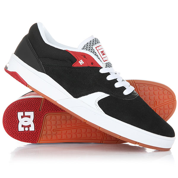 Кеды кроссовки низкие DC Tiago S Black/White/Red dc shoes кеды dc heathrow se 11