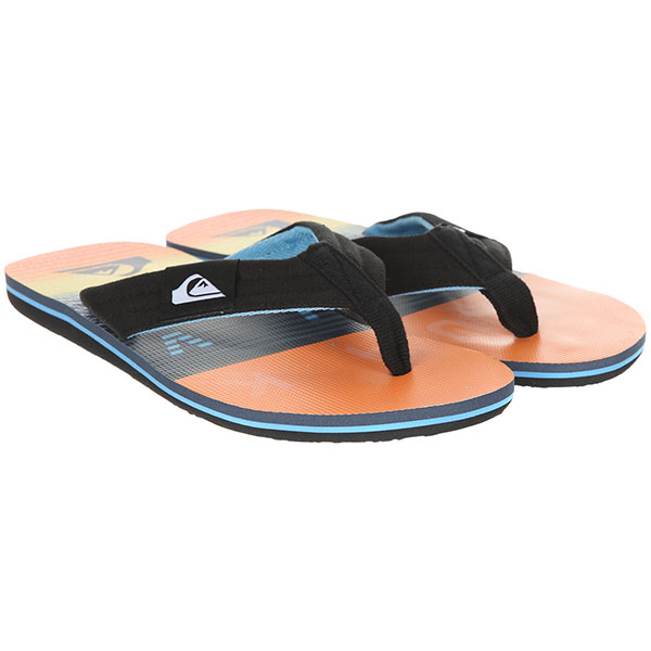 Вьетнамки Quiksilver Molokai Layback Black/Orange/Blue вьетнамки quiksilver molokai layback black red green