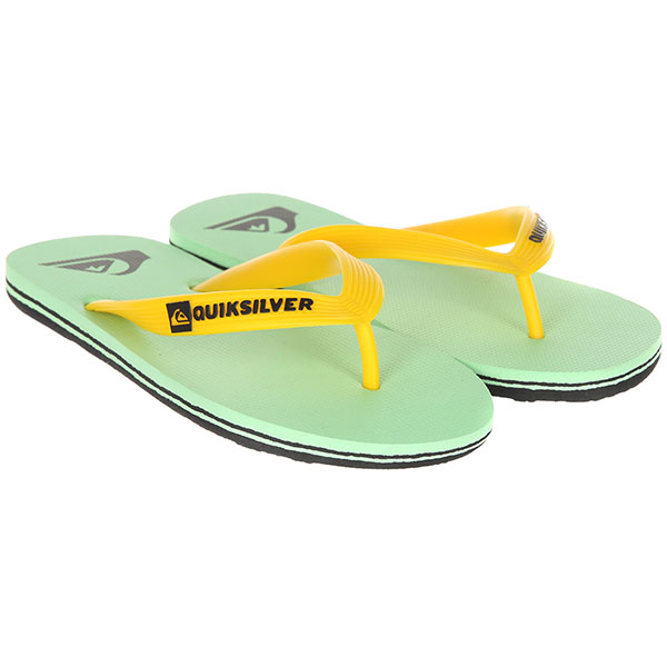Вьетнамки детские Quiksilver Molokai-yt Black/Green/White вьетнамки quiksilver molokai layback black red green
