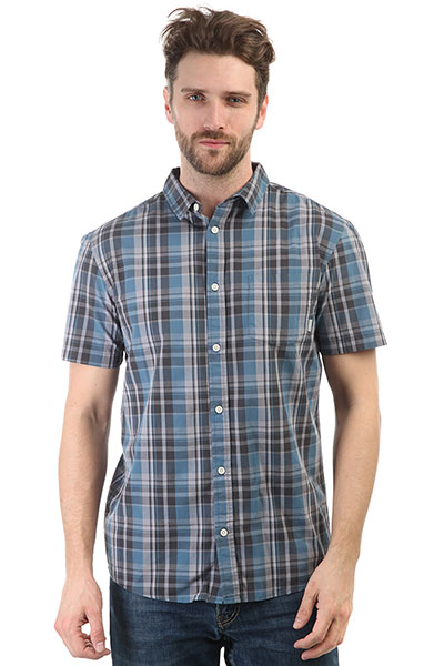 Рубашка Quiksilver Everydaycheckss Real Teal Everyday шорты пляжные детские quiksilver hightechyth16 real teal