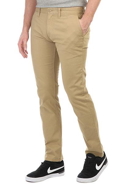 Штаны узкие DC Wrk Slm Chno Khaki штаны прямые dc wrk str chino khaki
