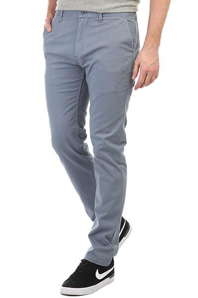 Штаны прямые DC Wrk Str Chino Blue Mirage штаны прямые dc wrk str chino khaki