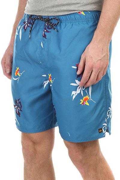 Шорты пляжные Quiksilver Monolaivolley Navy BlazerДанная модель имеет внутреннюю подкладку в виде сеточки<br><br>Цвет: голубой<br>Тип: Шорты пляжные<br>Возраст: Взрослый<br>Пол: Мужской