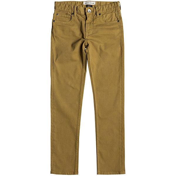 Штаны узкие детские Quiksilver Distorscolorsyt Wood Thrush<br><br>Цвет: коричневый<br>Тип: Штаны узкие<br>Возраст: Детский