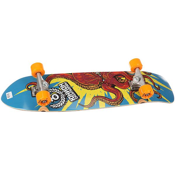 Скейт круизер Юнион Octopus Multi 8.5 x 31.5 (78.7 см)Крутой скейтборд Юнион Octopus с уникальным прикольным принтом.Катайтесь и любите, то что делаете! Характеристики:Скейтбордический комплект.Конкейв: medium. Технология холодного пресса, которая позволяет сделать доску прочной и надёжной, минимизируется риск возникновения винта.Применяемый эпоксидный клей повысил устойчивость к температурным перепадам и расслоениям. Колеса: 59 мм с жесткостью 83A. Подшипники: Юнион Abec 7. Материал: 100% прочный канадский клён.<br><br>Цвет: мультиколор<br>Тип: Скейт круизер