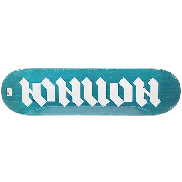 Дека для скейтборда для скейтборда Юнион Gothic Blue/White 32.2 x 8.5 (21.6 см)Ширина деки: 8.5 (21.6 см)    Длина деки: 32.2 (81.8 см)    Количество слоев: 7  При покупке сейчас Вы получите подарок: Шкурка для скейтборда Юнион Logo Grip Black (One Size)<br><br>Цвет: голубой<br>Тип: Дека для скейтборда<br>Возраст: Взрослый<br>Пол: Мужской