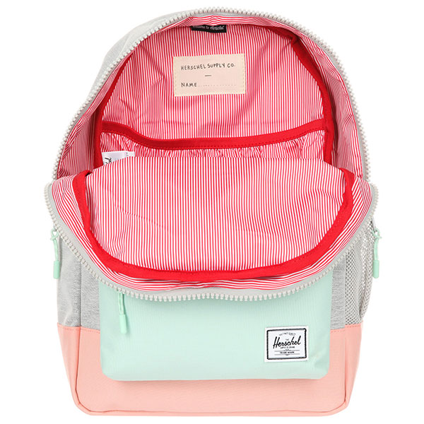 Рюкзак Herschel Heritage Youth Light Grey Crosshatch/Yucca/Peach Rubber