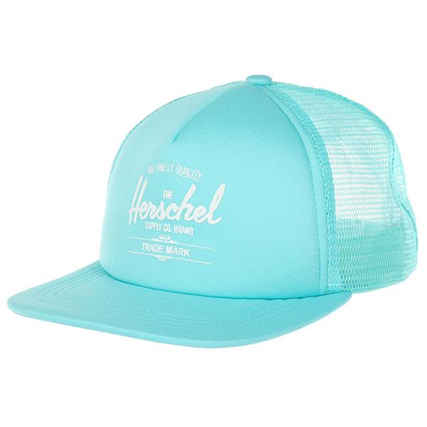 Бейсболка с сеткой Herschel Whaler Mesh Soft Brim Yucca<br><br>Цвет: голубой<br>Тип: Бейсболка с сеткой<br>Возраст: Взрослый