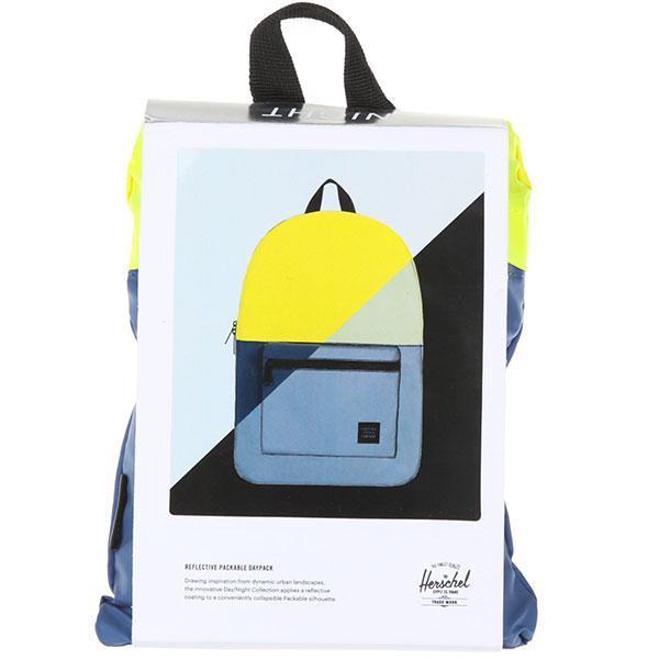 Рюкзак городской Herschel Packable Daypack Neon Yellow Reflective/Peacoat Reflective