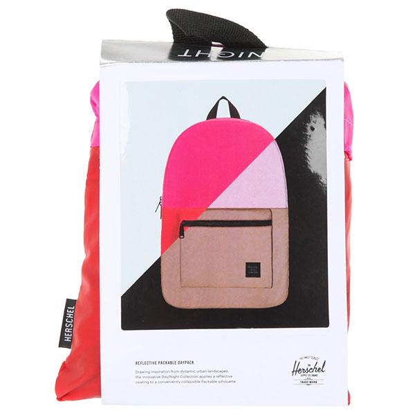 Рюкзак городской Herschel Packable Daypack Neon Pink Reflective/Red Reflective