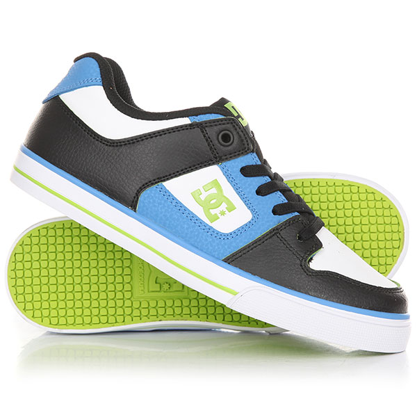 Кеды кроссовки низкие детские DC Pure Elastic Se Blue/Black/White dc shoes кеды dc council se navy camel 8