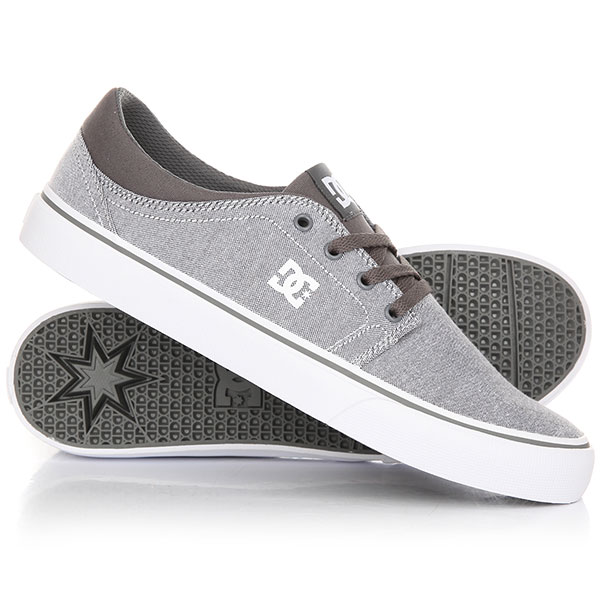 Кеды кроссовки низкие DC Trase Tx Se Grey/ White dc shoes кеды dc council se navy camel 8