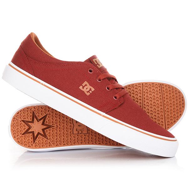 Кеды кроссовки низкие DC Trase Tx Burgundy кеды dc shoes кеды council tx m shoe