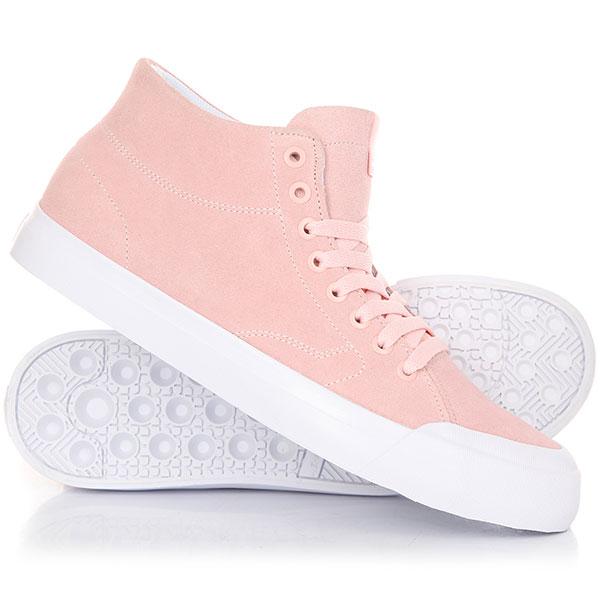 Кеды кроссовки высокие DC Evan Hi Zero Light Pink кеды кроссовки высокие женские dc evan hi raspberry